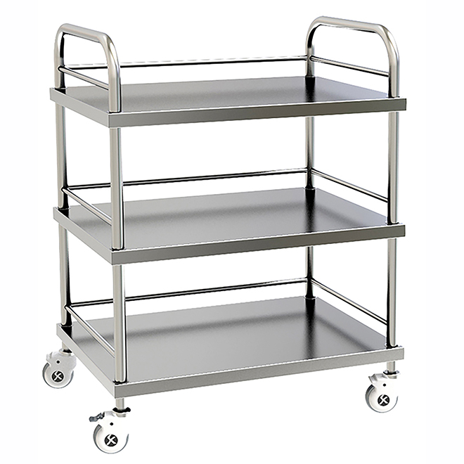 SKH004 Stainless Steel Hospital Treatment Trolley