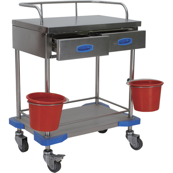 SKH025-1 Stainless Treatment Hospital Trolley