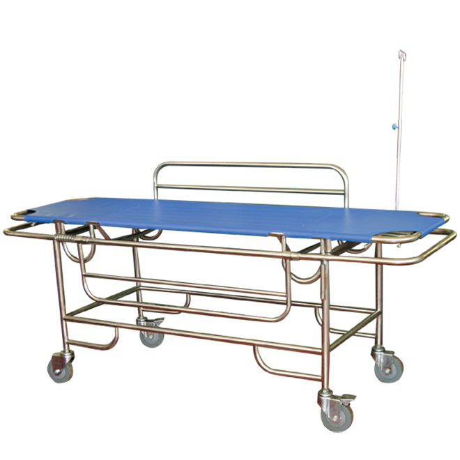 SKB037(A) Metal Frame Patient Transport Trolley